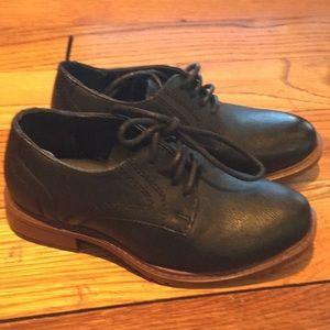 Little boy black dress shoes size 11